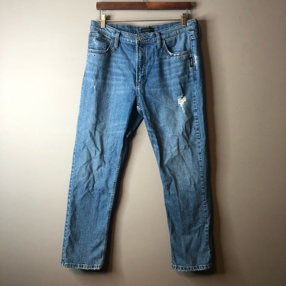 Silver jeans high rise Frisco straight 29